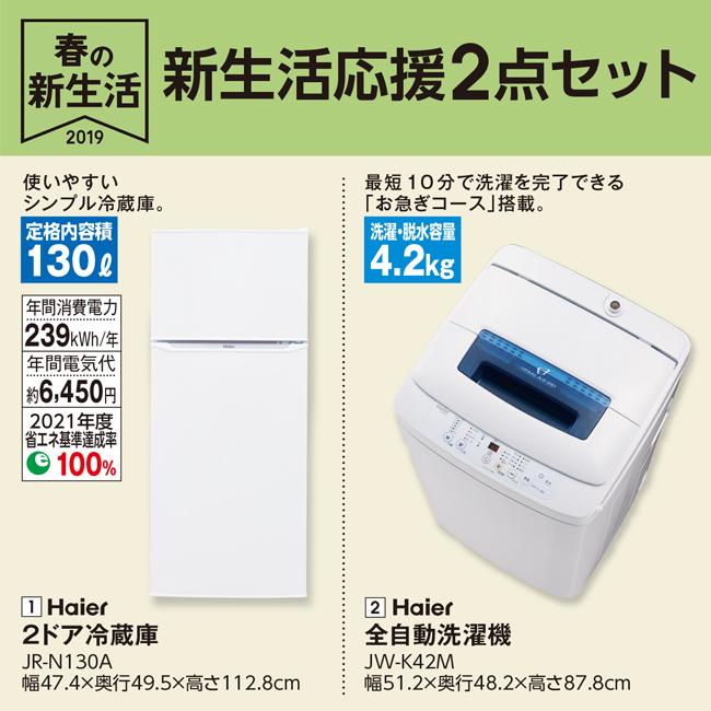ハイアール冷蔵庫・洗濯機2点セット