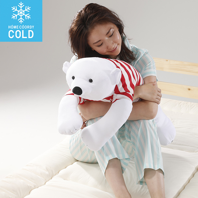 HOME COORDY COLD ひんやり白くま抱きまくら
