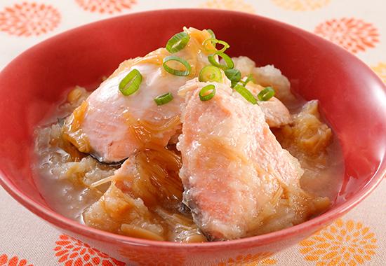 秋鮭のレンジおろし煮