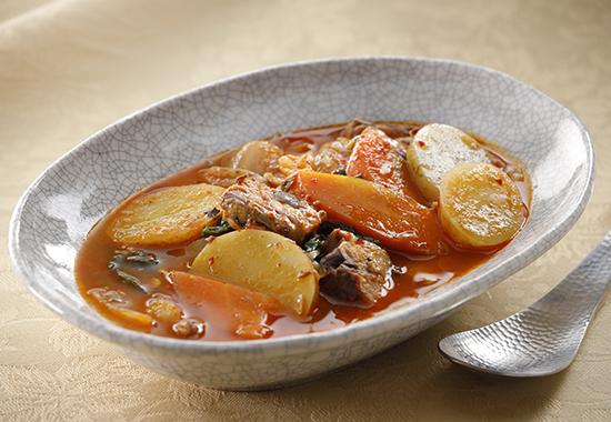 じゃがいもの韓国風スープ