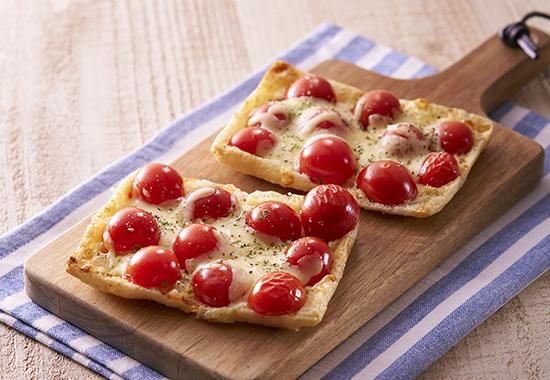 ミニトマトのお揚げチーズ焼き